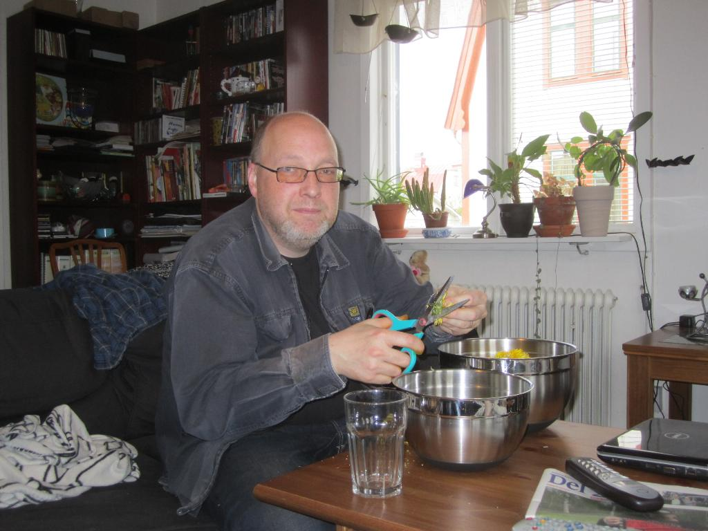 Maskrosorna rensas av bloggaren