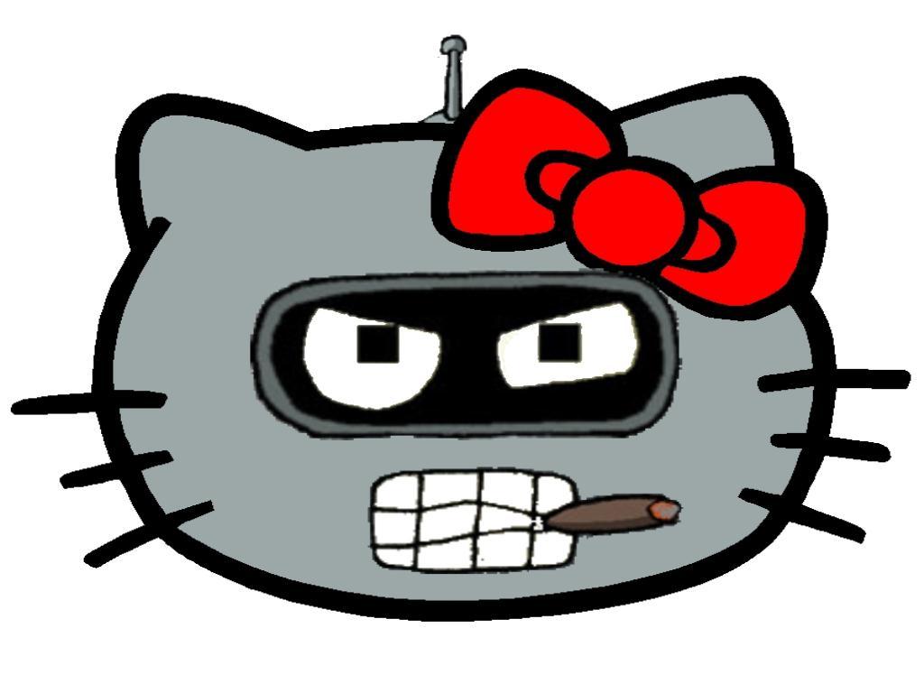 Bender som Hello Kitty