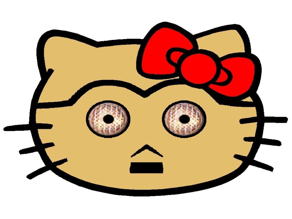 Hello Kitty som C3P0
