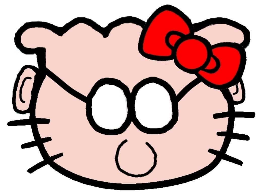 Hello Kitty som Dilbert