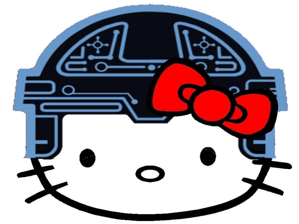 Hello Kitty som Kevin Flynn i Tron