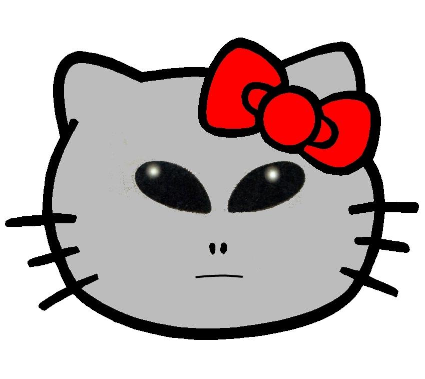 Hello Kitty som grey Alien