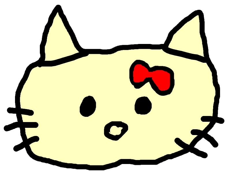 Hello Kitty som Barnteckning