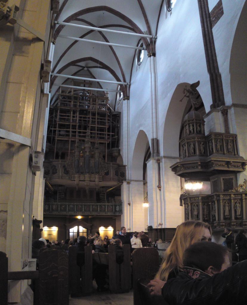 Domkyrkan i Riga, vy mot orgeln