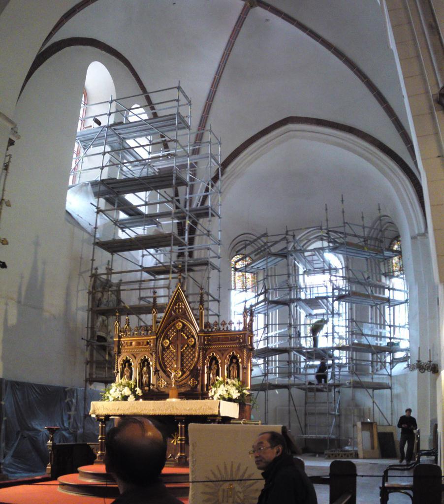 Renovering pågår, Domkyrkan i Riga