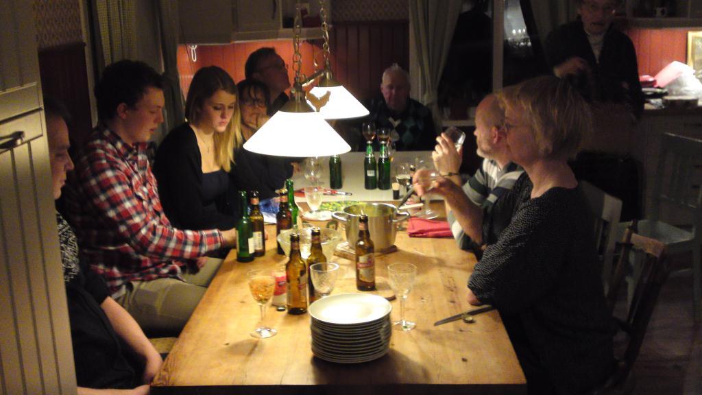 Födelsedagsfest i Skattungbyn