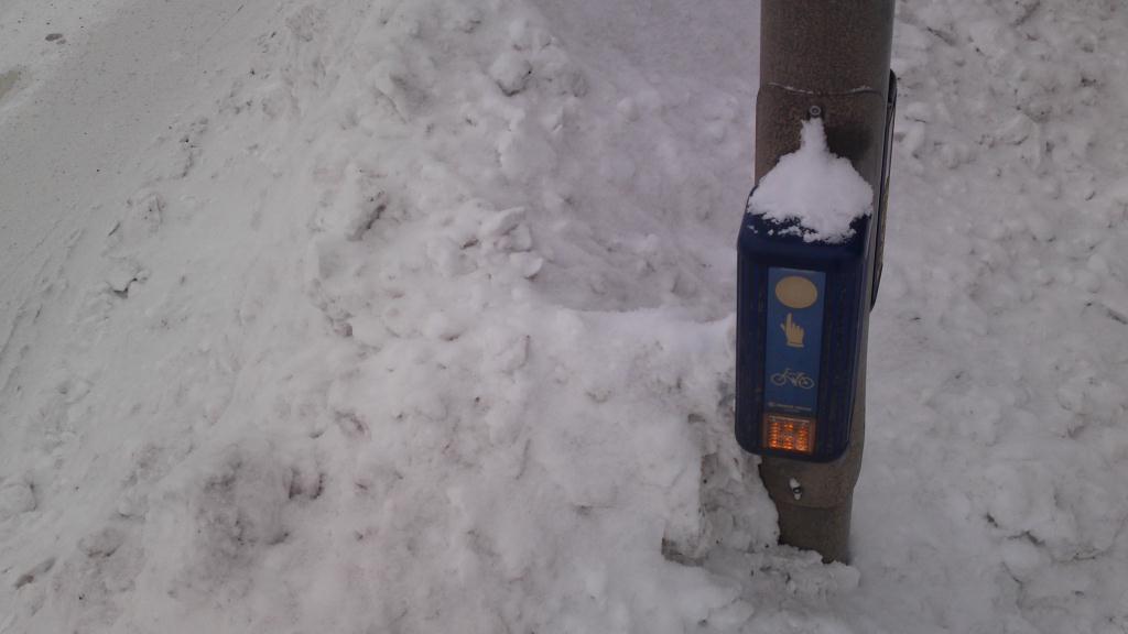 Snö i Gävle