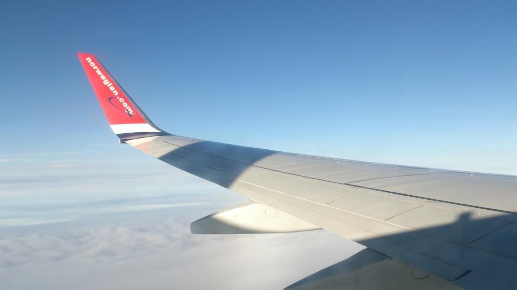 Flygvinge mellan Kastrup och Arlanda
