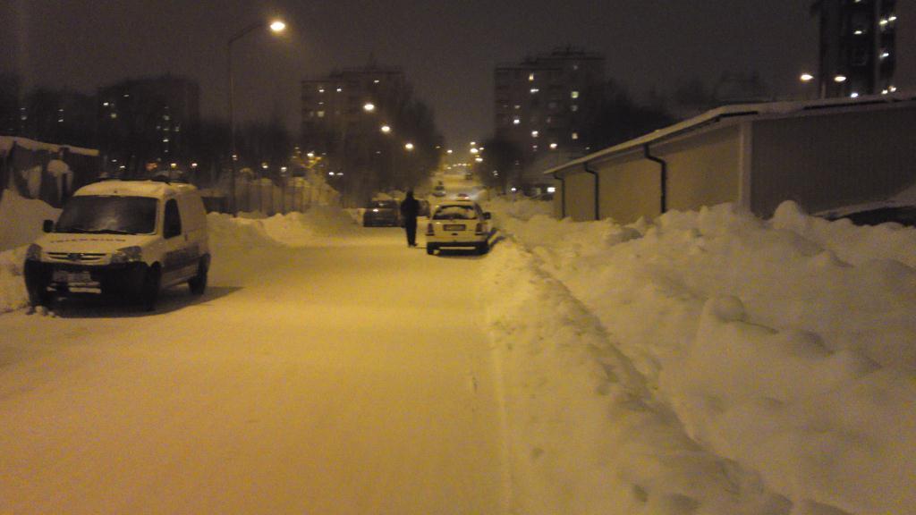 Snö på Brynäs
