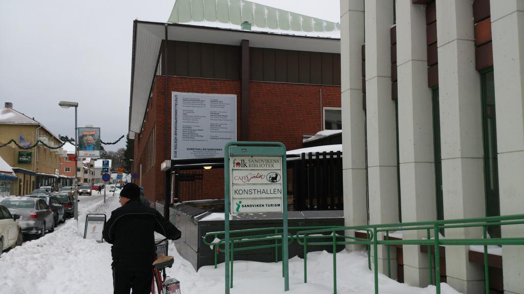 Ingång till Sandvikens Konsthall