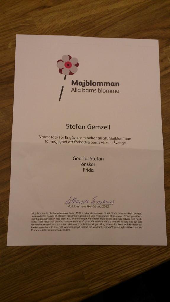 Donation Majblomman