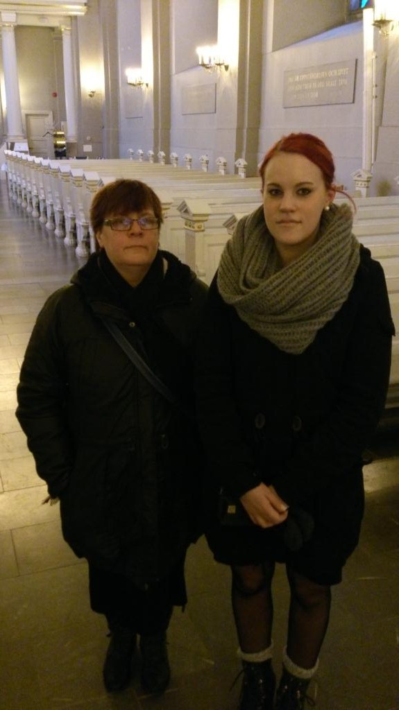 Anne Catrine och Frida i Sofia Albertina