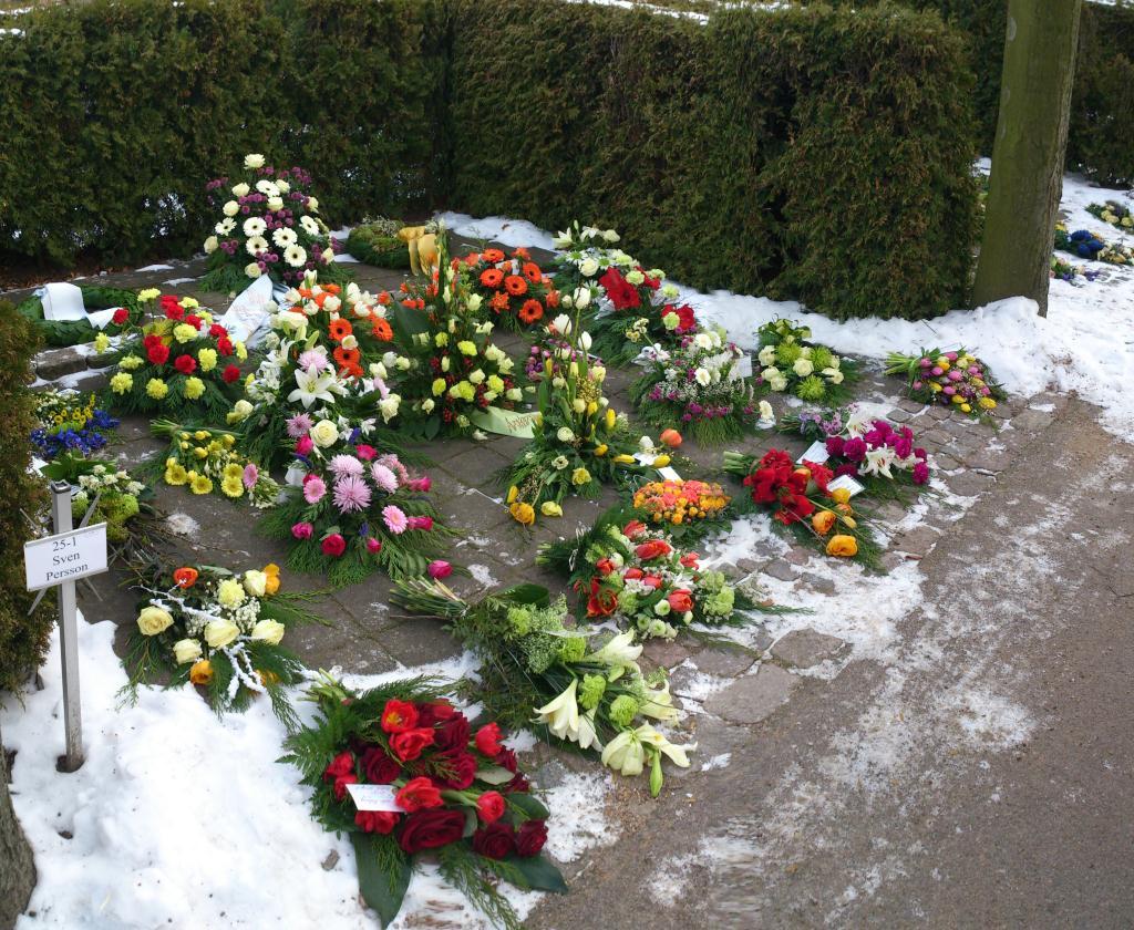 Blommor på kyrkogården