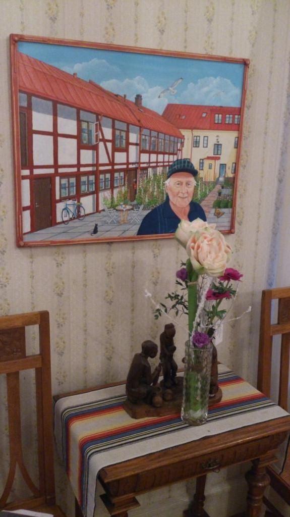 Målning av min pappa hemma i Landskrona