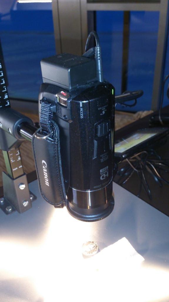 Canon Legria HF M52 med Makrolins