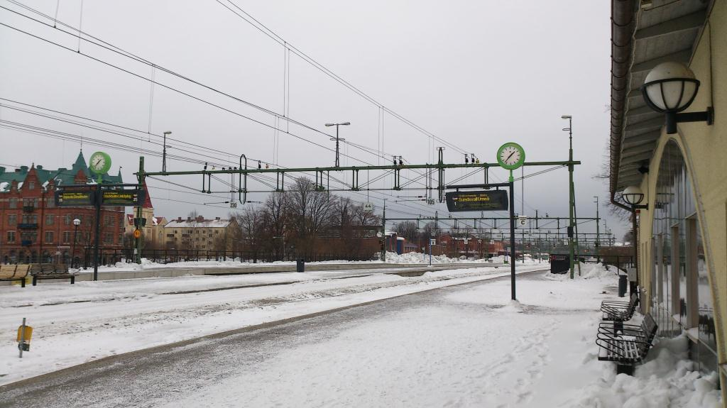Järnvägstationen i Gävle