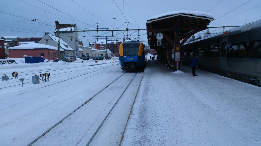 Norrtåg mot Östersund, Sundsvall station