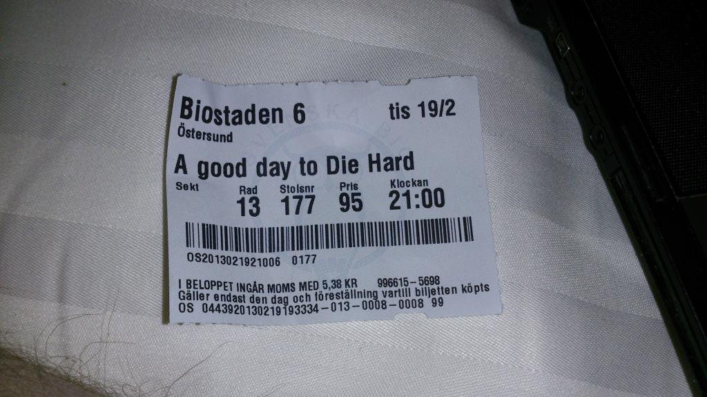 A god day to Die Hard