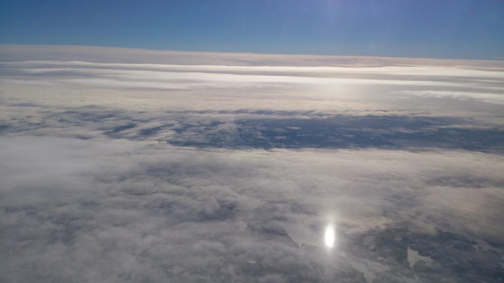 Med luft under vingarna på väg till London