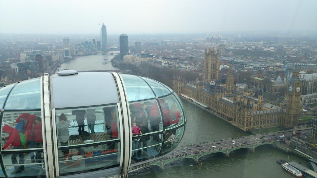Vy från London Eye