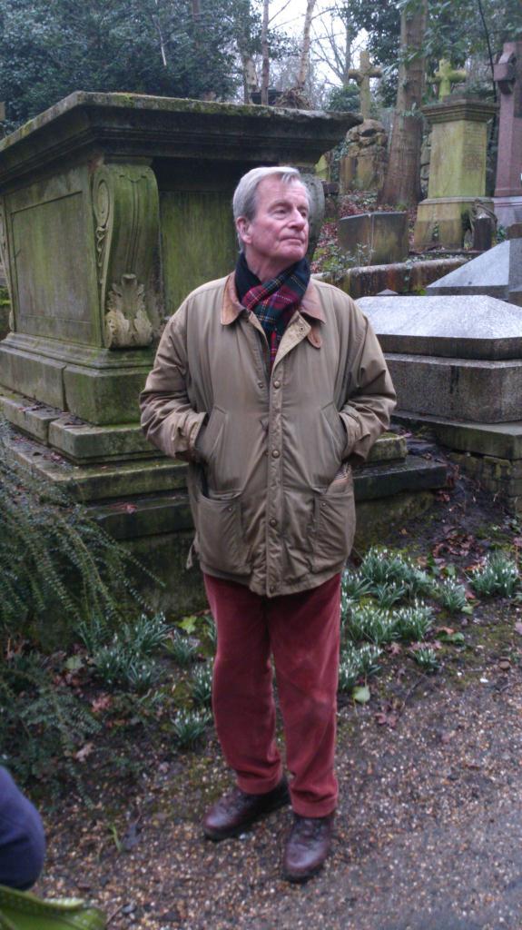 Highgate Cemetery - West, Vår guide som jag tror heter Tom Richardson