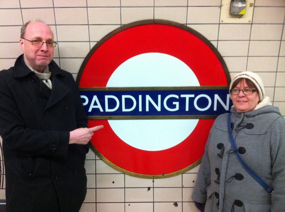 Stefan och Anne Catrine vid Paddington