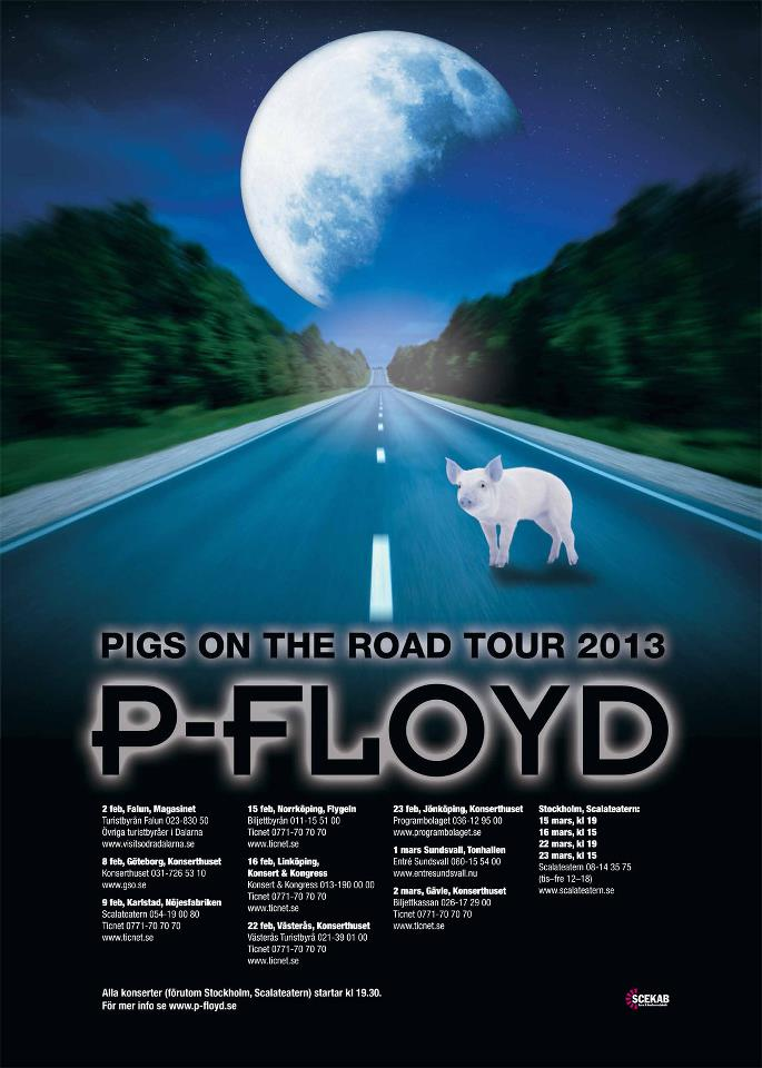 P-Floyd, Pigs on the road tour 2013, Gävle Konserthus