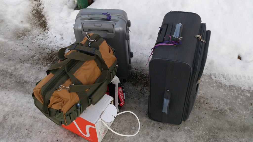 Väskan packad, redo för att åka med till Läckö