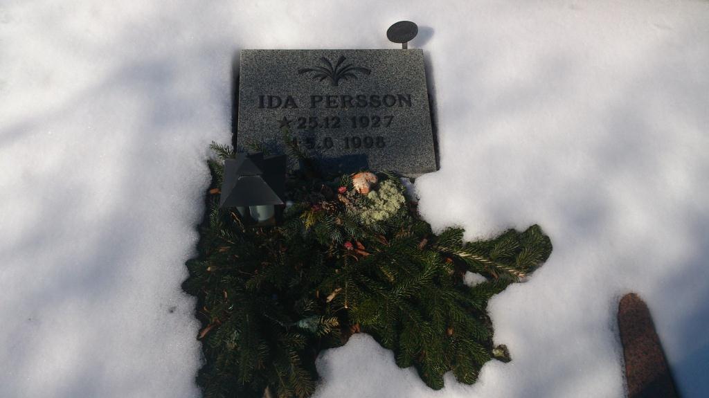 Min faster Ida Persson - Tomelilla Kyrkogård