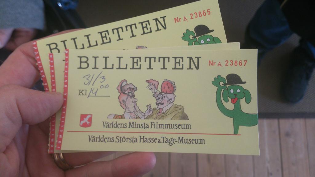 Billetten - Hasse & Tage Museet i Tomelilla
