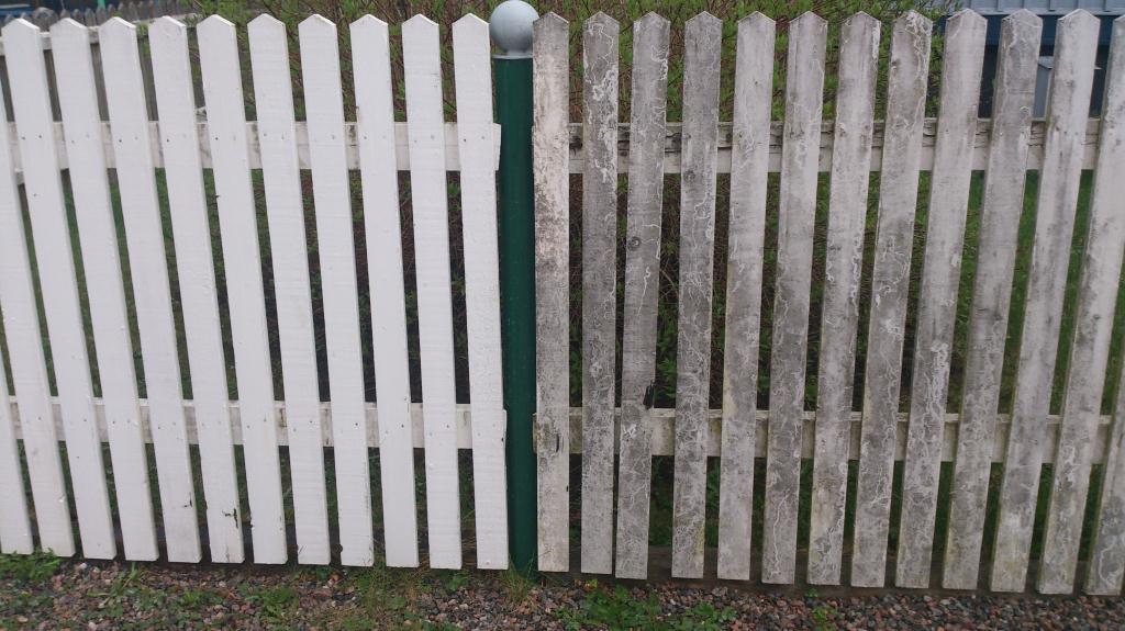 Tvätta staket