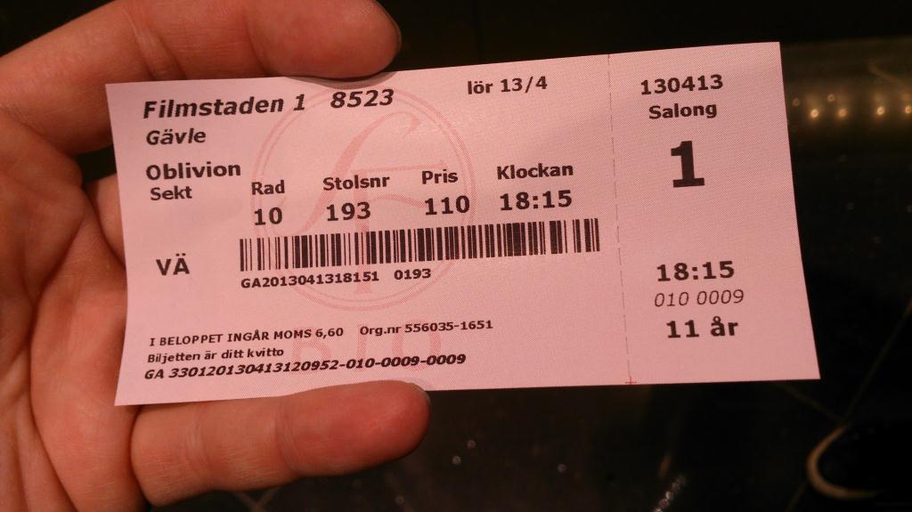 Oblivion - Filmstaden Gävle