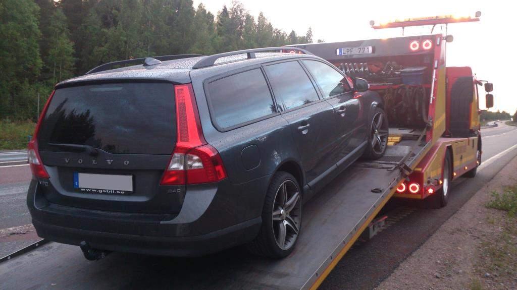 Bärgning av trasig Volvo