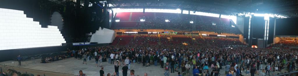 Parken, före konserten med Roger Waters