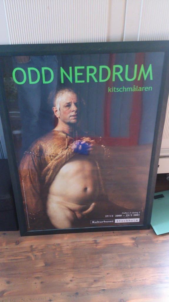 Odd Nerdum - Kitchmålaren Affisch Kulturhus Stockholm