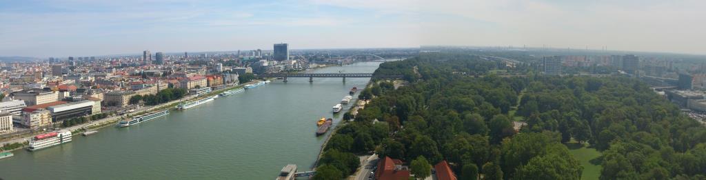 Utsikt från UFO - Bratislava