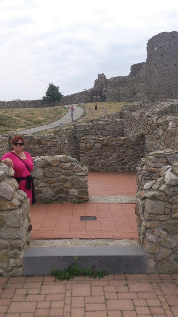 Anne Catrine Gemzell vid Slottet Devin