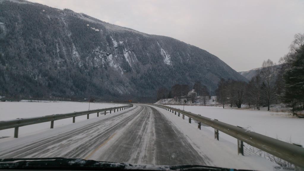 På väg mot Oslo från Rjukan