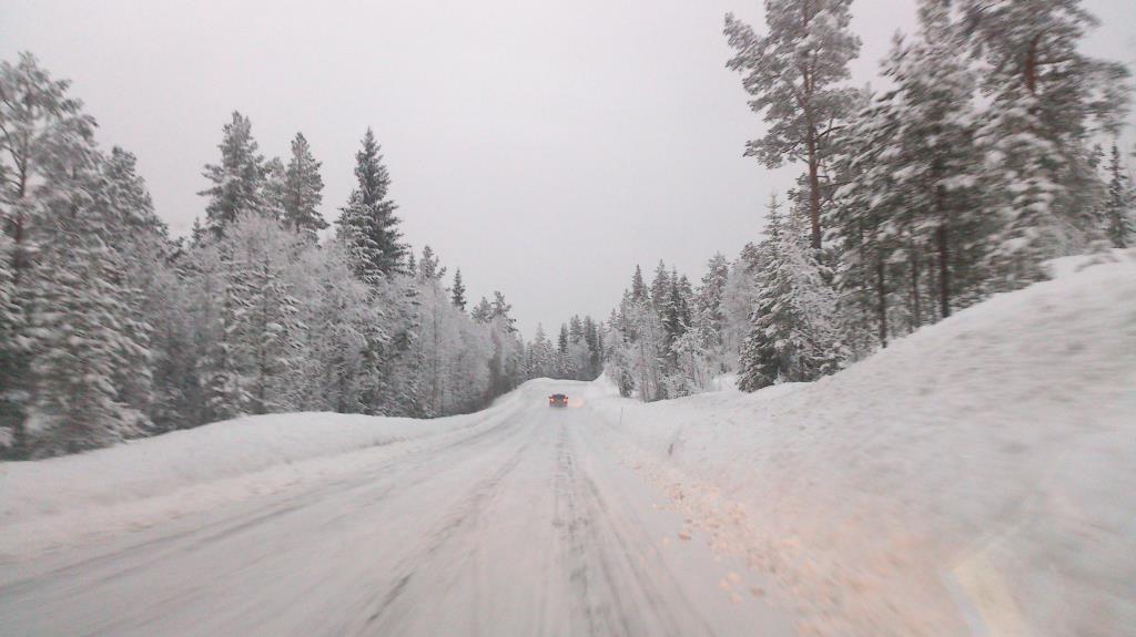 På väg mellan Rjukan och Kongsberg