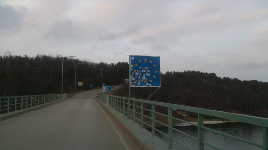 Gränsen mellan Norge och Finland öster om Karasjok