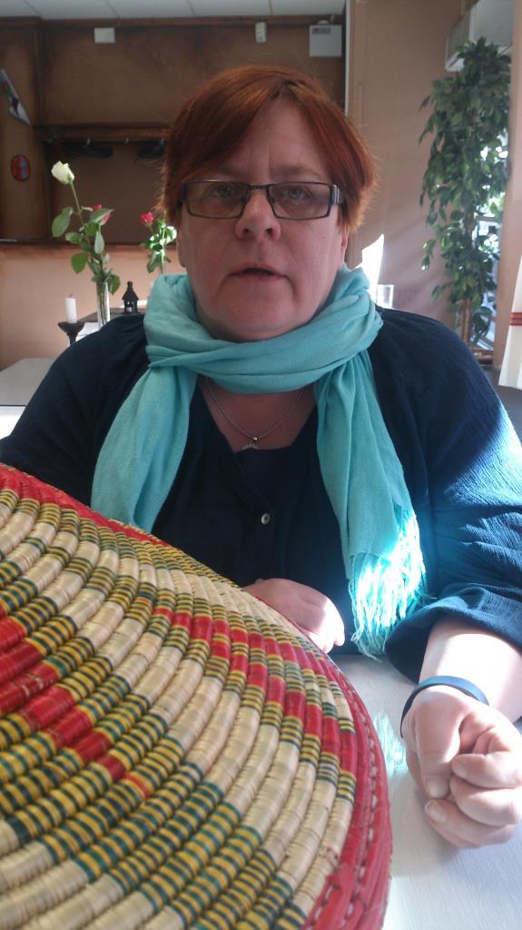 Anne Catrine på East Africa i Gävle