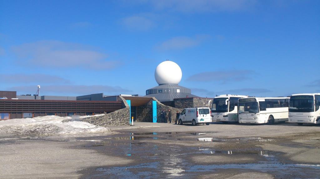 Ingång besökscentret Nordkap
