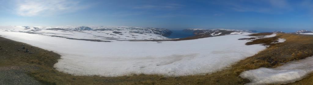 Vy strax söder om Nordkap