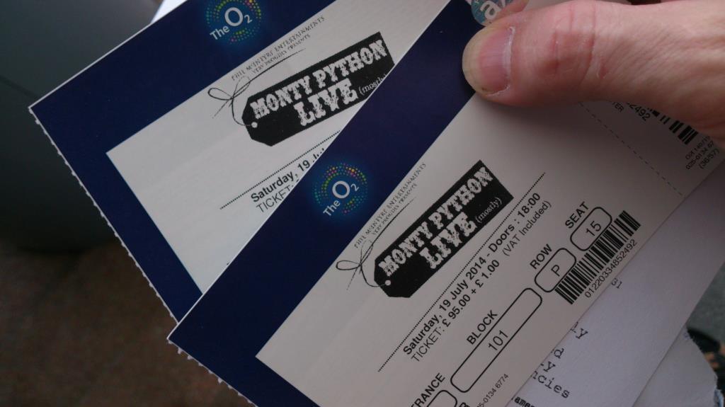 Tickets Monty Python Live (mostly)