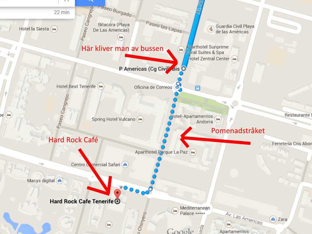 Promenad sista sträckan till Hard Rock