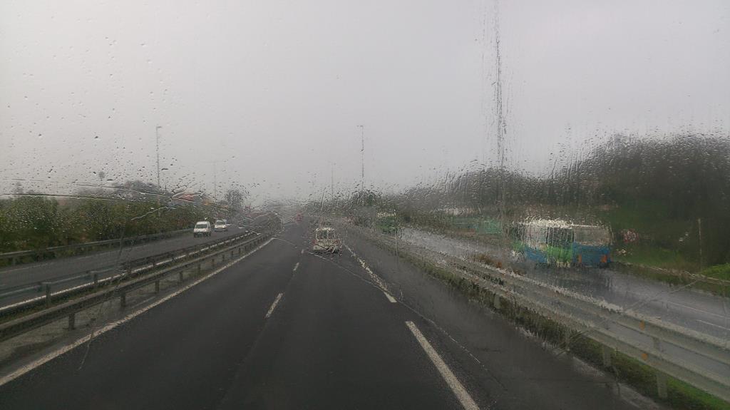 I bussen på väg till Bodega Alvaro
