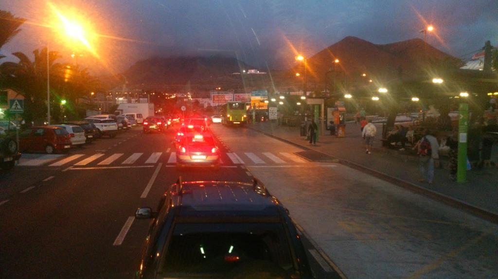 Los Christianos, Teneriffa, på väg hem mot vårt hotell