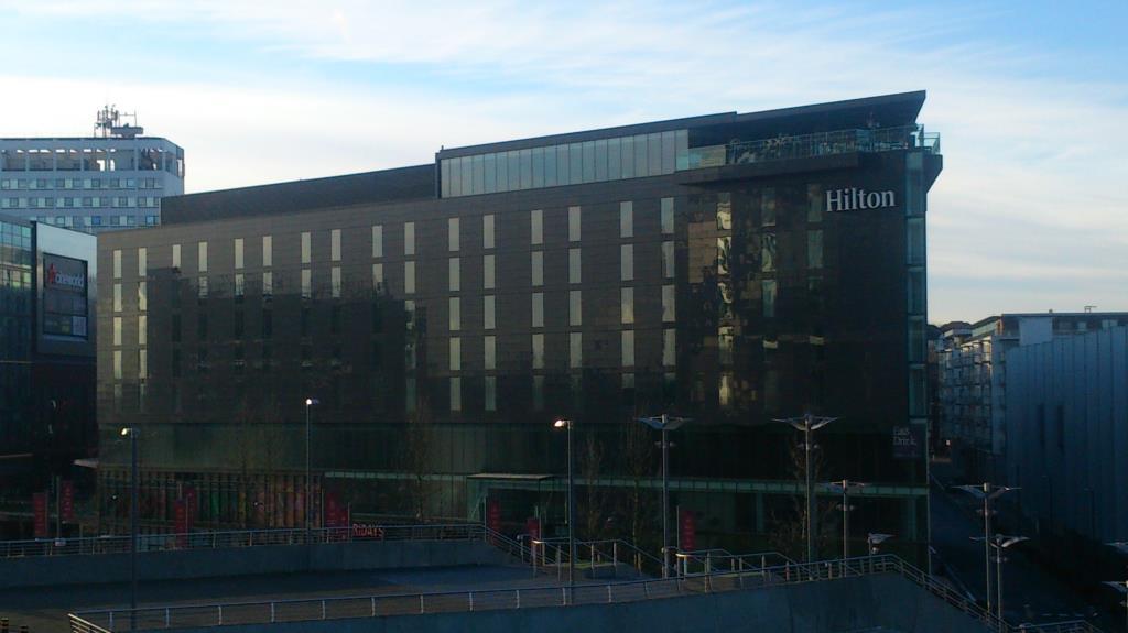 Hilton sett från Wembley arena
