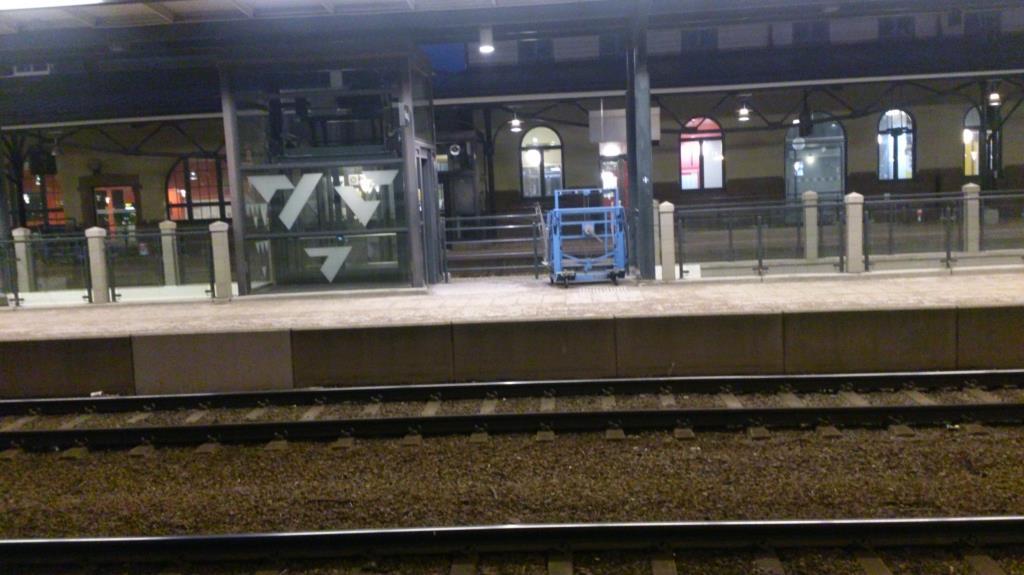 Gävle station, strax före 6 på morgonen