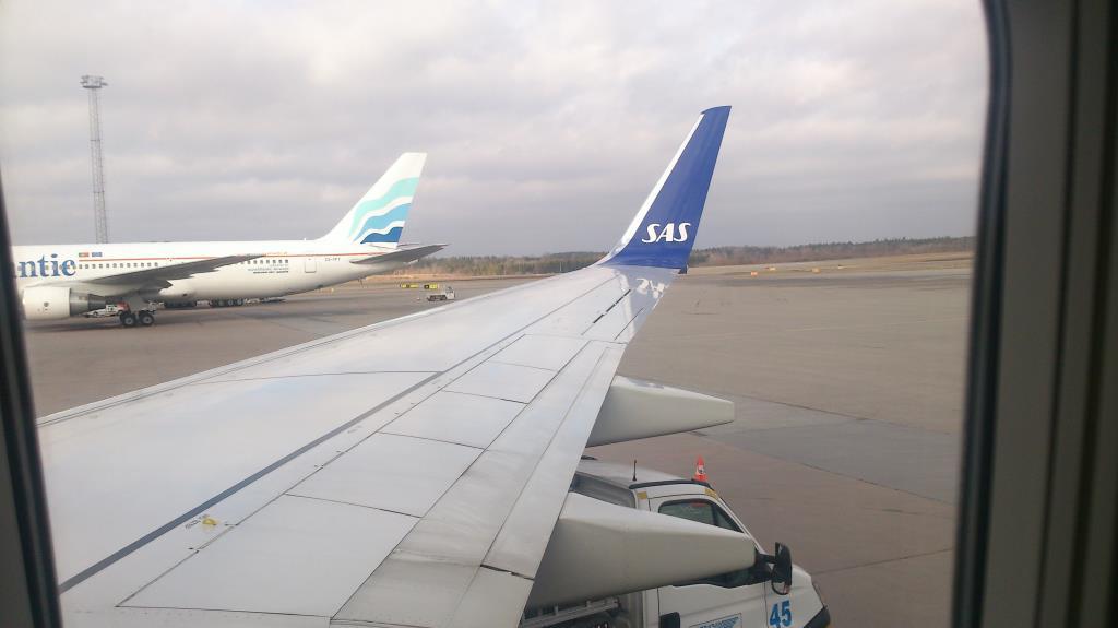 Arlanda, vinge på väg till Tromsö